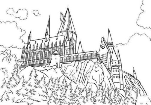 Dibujo de hogwarts colorear