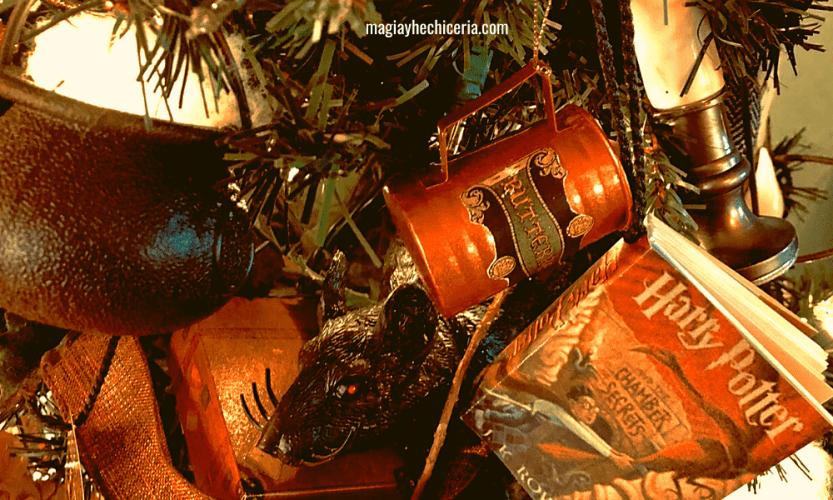 decoración navideña potterhead