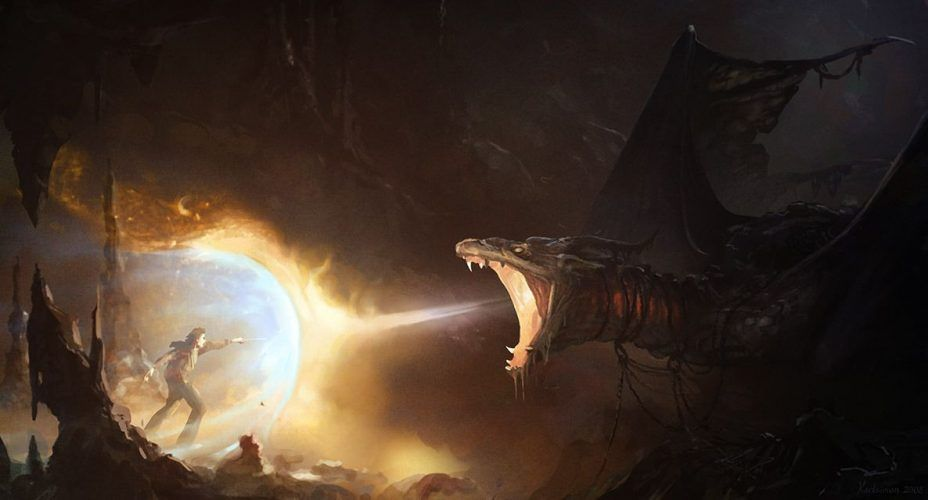 dragon escupe fuegos
