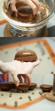 tortas de caldero de chocolate
