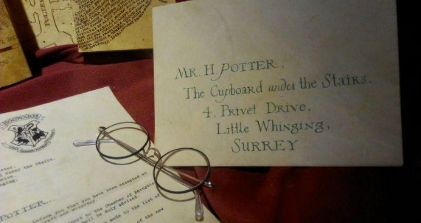 Carta de Hogwarts original